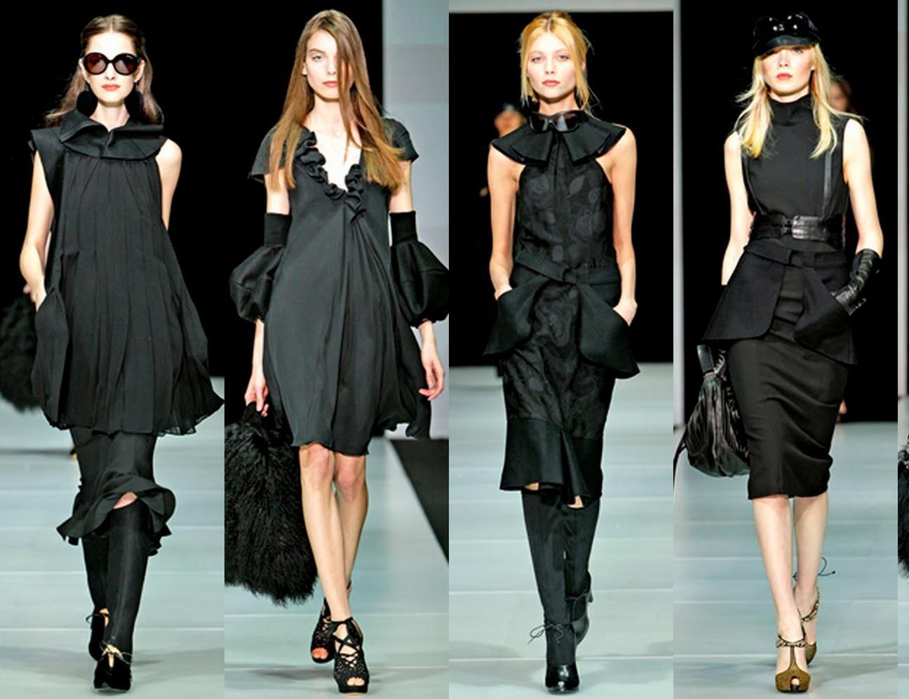 Платья черные от армани